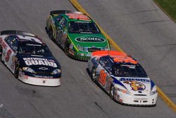 Michael McDowell, Dale Earnhardt Jr. and Carl Edwards
