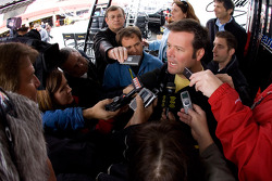 Robby Gordon answers a few questions for the media