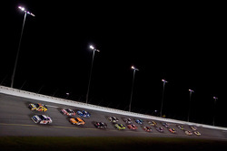 Dale Earnhardt Jr. and Dave Blaney lead the field to the restart
