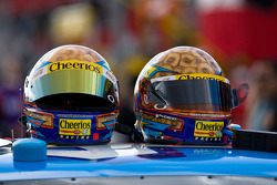 Hemets of Bobby Labonte sit atop his race car