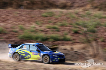 Chris Atkinson and Stéphane Prévot, Subaru World Rally Team, Subaru Impreza WRC 2006