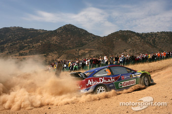 Mikko Hirvonen and Jarmo Lehtinen, BP Ford Abu Dhabi World Rally Team, Ford Focus RS WRC