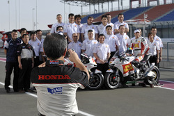 Photo shoot for Team Gresini