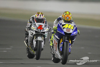 Valentino Rossi leads Andrea Dovizioso