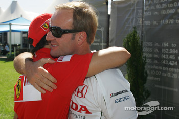 Rubens Barrichello, Honda Racing F1 Team and Felipe Massa, Scuderia Ferrari