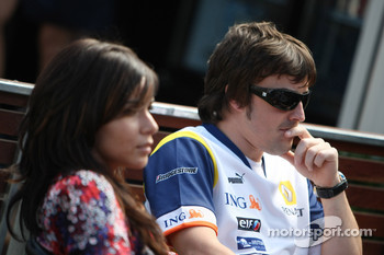 Fernando Alonso, Renault F1 Team, Raquel Rosario Wife of Fernando Alonso