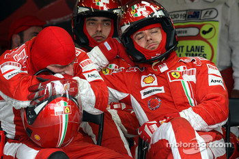 Pit stop for Ferrari Mechanics