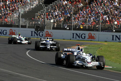Nick Heidfeld, BMW Sauber F1 Team, Nico Rosberg, WilliamsF1 Team