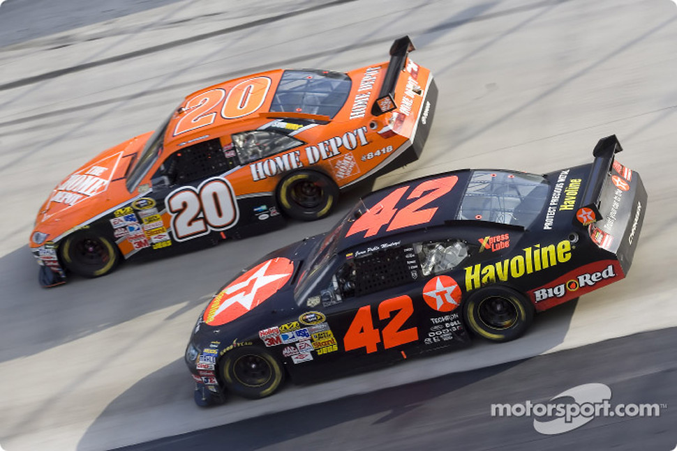 Tony Stewart and Juan Pablo Montoya