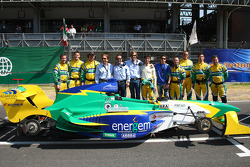 Emerson Fittipaldi, Seat Holder of A1 Team Brazil and Bruno Junqueira, driver of A1 Team Brazil team photo