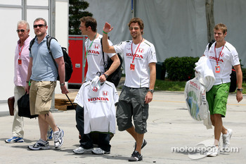 Jenson Button, Honda Racing F1 Team, Alexander Wurz, Test Driver, Honda Racing F1 Team