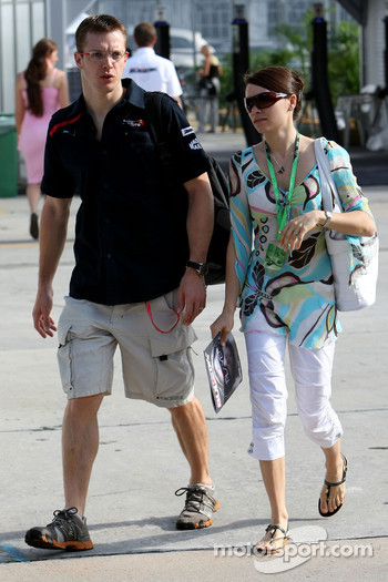 Sébastien Bourdais, Scuderia Toro Rosso with his wife July