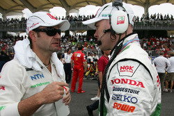 Rubens Barrichello, Honda Racing F1 Team and Jock Clear, Honda Racing F1 Team, Senior Race Engineer to Rubens Barrichello