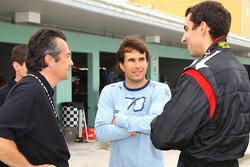 Eric Bachelart, Enrique Bernoldi and Justin Wilson