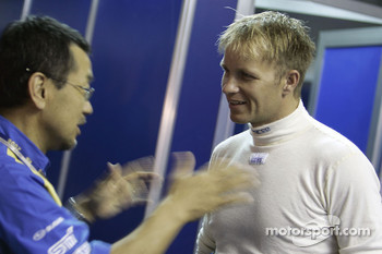 Petter Solberg talks to Shigeo Sugaya