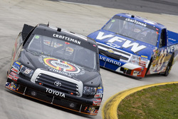 Denny Hamlin leads Ron Hornaday