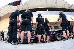 Red Bull Racing practice pitstop