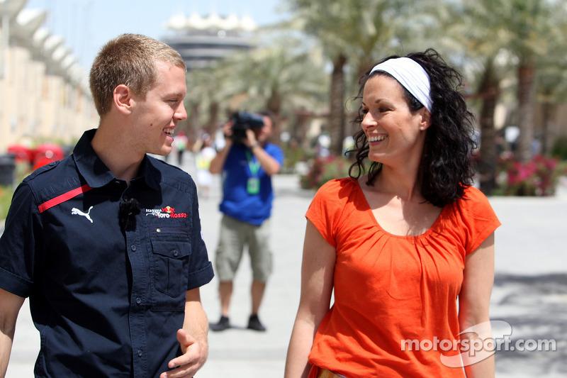 Sebastian Vettel and Tanja Bauer