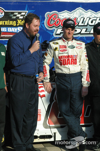 Eddie Gossage and Dale Earnhardt Jr.