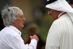 Bernie Ecclestone with Muhammed Al Khalifa Chairman of Bahrain circuit