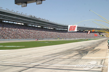 A view of the massive grandstands at Texas Motor Speedway