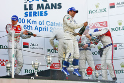 LMP1 podium: class and overall winners Nicolas Minassian and Marc Gene, second place Alexandre Prémat and Mike Rockenfeller, third place Stefan Mücke and Jan Charouz