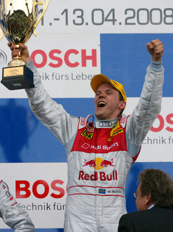 Podium: race winner Mattias Ekström