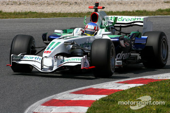 Alexander Wurz, Test Driver, Honda Racing F1 Team, on slicks