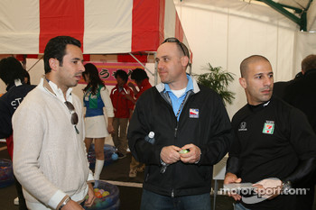 Honda Welcome Party: Helio Castroneves and Tony Kanaan