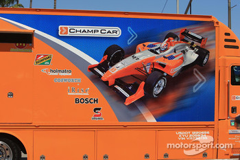 Champ Car graphics on a support vehicle