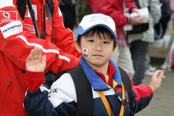 A young fan of Hideki Mutoh