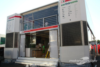 Honda Racing F1 Team motorhome