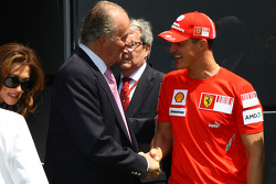 Michael Schumacher, Test Driver, Scuderia Ferrari and Juan Carlos I, King of Spain