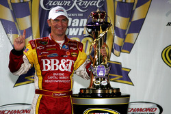 Victory lane: race winner Clint Bowyer