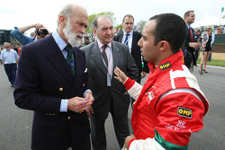 HRH Prince Michael of Kent and Nadhmi Auchi with Khalil Beschir, driver of A1 Team Lebanon