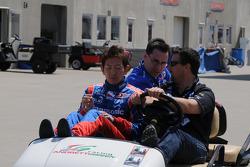 Michael Andretti driving Hideki Mutoh