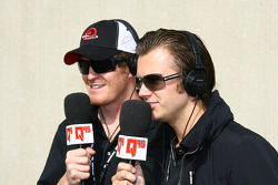 Dan Wheldon and Scott Dixon do an interview