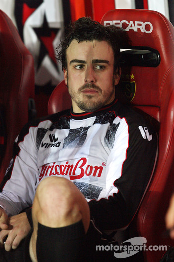 Football match Nazionale Piloti vs All Stars Team in Stadium of Galatasaray, Istanbul: Fernando Alonso, Renault F1 Team