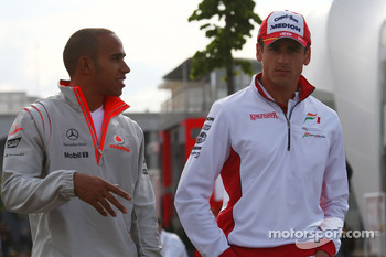 Lewis Hamilton, McLaren Mercedes and Adrian Sutil, Force India F1 Team