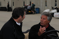 Mario Andretti talks to Tony George