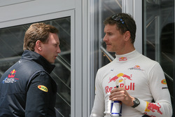 Christian Horner, Red Bull Racing, Sporting Director and David Coulthard, Red Bull Racing