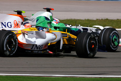 Nelson A. Piquet, Renault F1 Team and Jenson Button, Honda Racing F1 Team