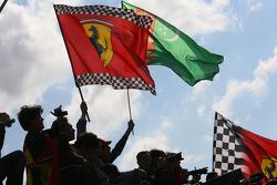 Ferrari fans celebrate victory