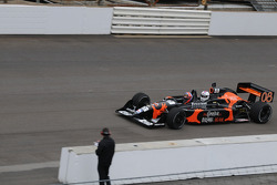 Todd Wallace, news anchor at WRTV Channel 6, takes a two-seater ride