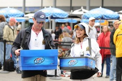 The beer sellers were out in force for carb day