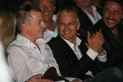 Kimi Raikkonen, Scuderia Ferrari and Heikki Kovalainen, McLaren Mercedes Amber Fashion which benefits the  Elton John Aids Foundation