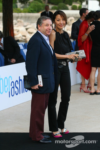 Jean Todt, Scuderia Ferrari, Ferrari CEO and Michelle Yeoh Girlfriend of Jean Todt Amber Fashion which benefits the  Elton John Aids Foundation