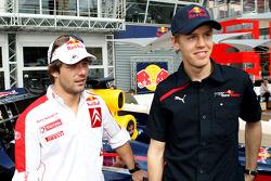 Sebastian Vettel, Scuderia Toro Rosso and Sébastien Loeb, Citroen World Rally Driver