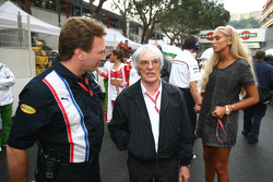 Christian Horner with Bernie Ecclestone, President and CEO of Formula One Management