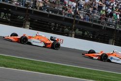 Enrique Bernoldi chasing teammate Jaime Camara